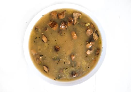 Wild Mushroom and Rice Soup