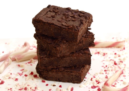 Peppermint Holiday Brownies