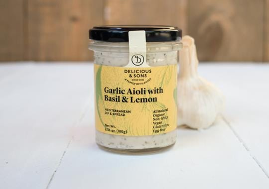 Garlic Aioli with Basil and Lemon