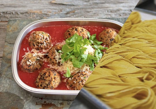 Fresh Pasta and Meat-less Balls Bundle