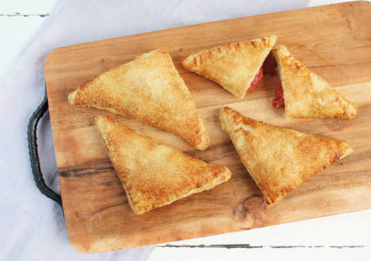 Local Strawberry & Local Rhubarb Turnovers (2 or 4 pastries)