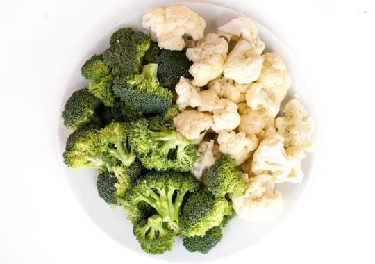 Cauliflower & Broccoli Florets (Large)
